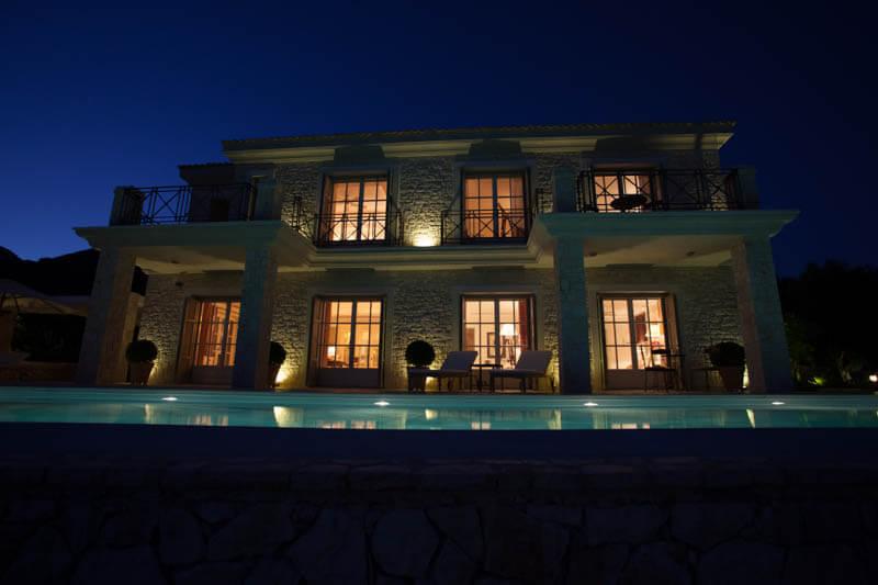 Villa Saudade by night